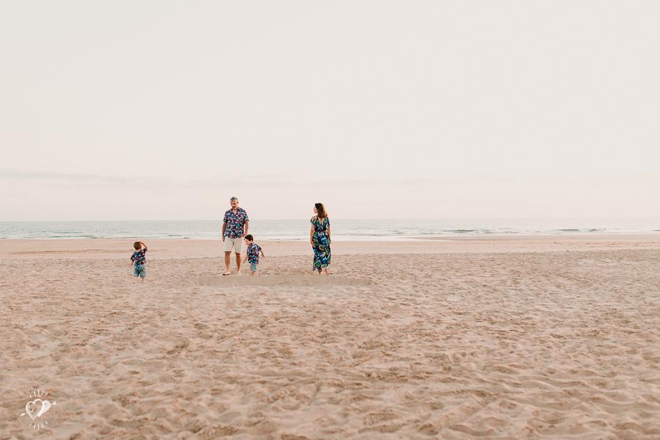 fotografia de familia en playa el palmar
